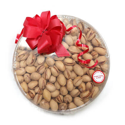 California Pistachios Gold Gift Dish
