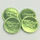 Baby Coins Green Milk Chocolate 5 oz
