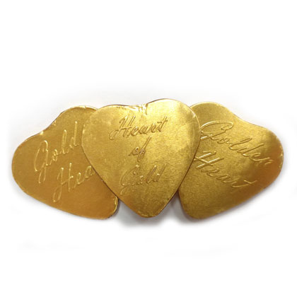 Hearts of Gold Milk Chocolate 6 oz